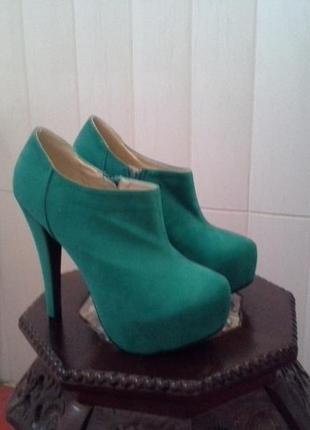 Зеленые ботильоны ami clubwear туфли ботинки