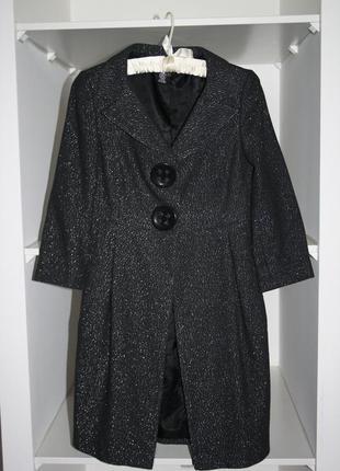Стильное легкое пальто тренч 33% шерсть zara