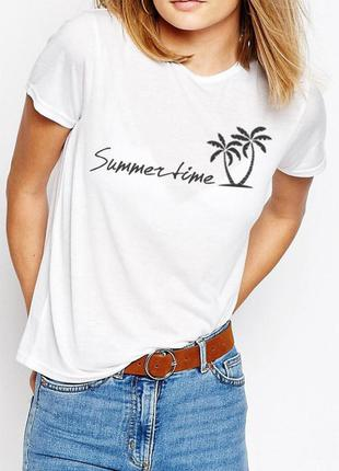 Summertime футболка  100% хлопок