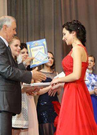 Красное выпускное платье!