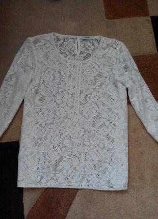 Блуза из нежного белого кружева