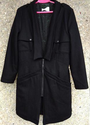 Стильное шерстяное пальто бойфренд оверсайз skunkfunk акция 1+1=3