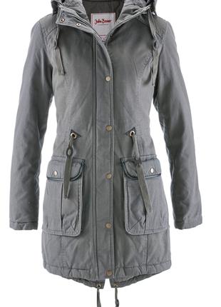 Невероятно теплая куртка парка на зиму 38 м john banner bonprix