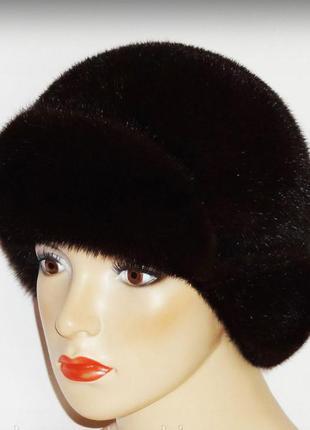 Норковая женская шапка.
