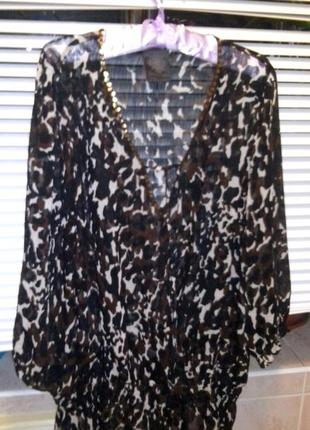 Пляжная туника накидка fashion safari s-m-l