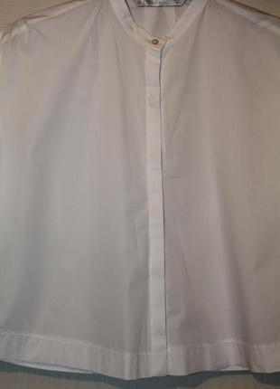 Белая рубашка zara укороченная.
