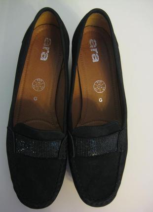 Нарядные туфли ara 40р на танкетке нубук