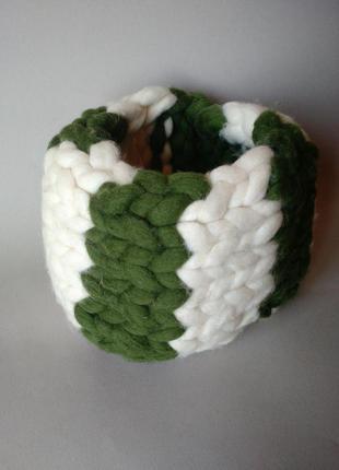 Hand made шарф из шерсти мериноса