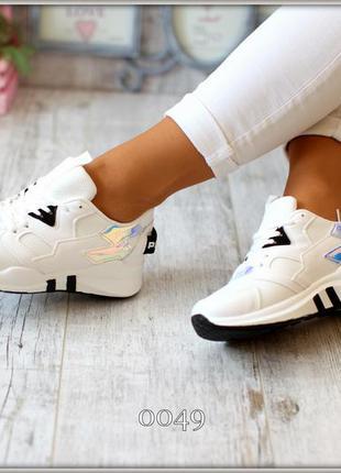 Кроссовки белые женские спорт 2018 размеры  36,37,38,39,40
