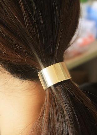 5c5e96789c32 Золотистая металлическая заколка зажим резинка для волос, цена - 70 ...