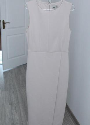 Светлое платье футляр asos