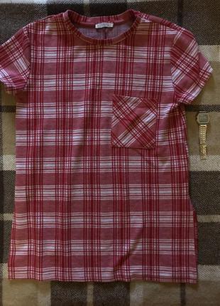 Удленненая футболка zara trafaluc