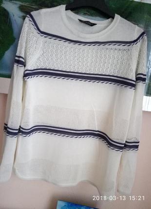 Нежный свитерок с кружевом раз. l