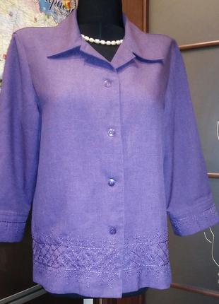 Элегантная кофта-пиджак 48-50 летний