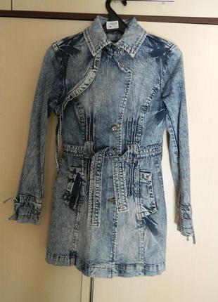 Пальто френч джинсовий