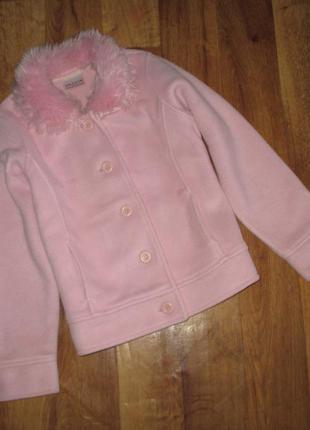 Флисовый пиджак - ветровка, куртка фирмы next, рост 140 -146 см