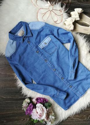 Комбинированная джинсовая рубашка 141448 next размер uk10 (s/m)