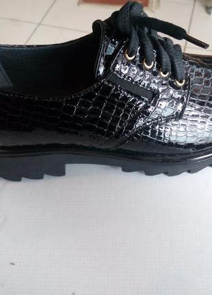 Маломерки кожание модние туфельки
