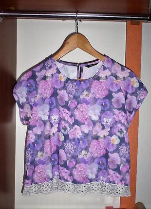 Шифоновая футболка-блуза от george