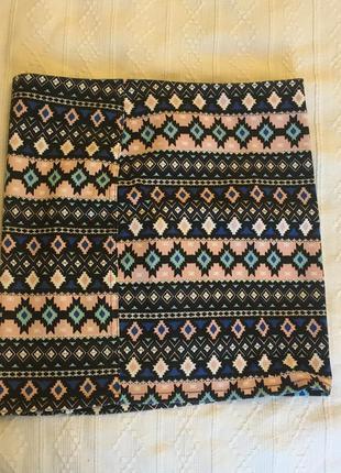 Очень короткая юбка с интересным принтом h&m(divided)