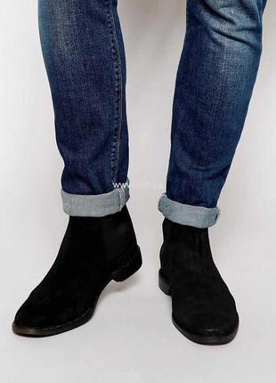 Мужские ботинки челси на молнии river island  оригинал