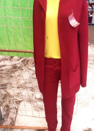 Вязаные костюмы  , кардиган +брюки , универсал размер, разные цвета