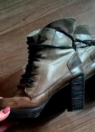 Стильные ботинки. натуральная кожа. италия