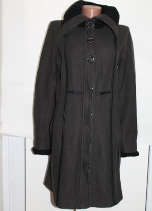 Xs-s marc cain оригинал.шерстяное пальто/кардиган с гравировкой на пуговицах
