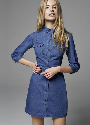 Джинсове плаття з пояском miss selfridge