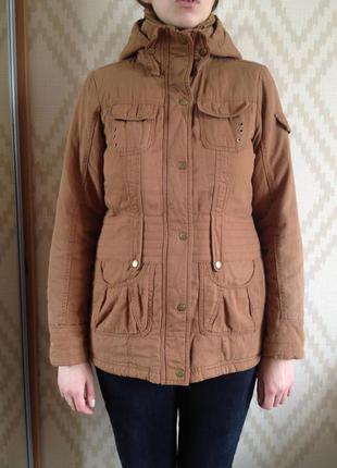 Демисезонная куртка-парка vero moda с плюшевой подкладкой