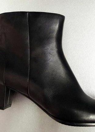 Весенние кожаные ботинки на среднем каблуке,41 размера