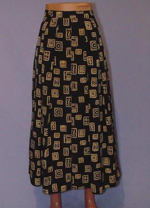 Шикарная принтовая юбка 12 размера