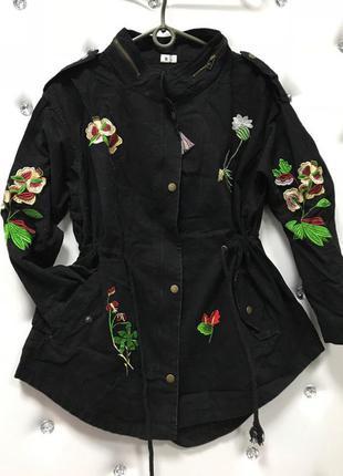 Новая куртка, парка, плащ с вышивкой р. 42-44 и 44-46 кол-во ограничено