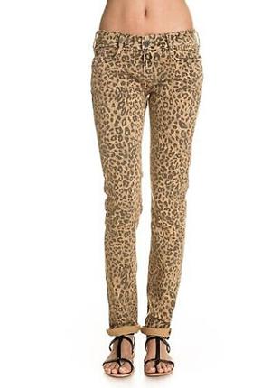Новые. джинсы слим фит в леопардовый принт cimarron, испания р. 24.