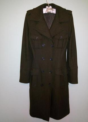Пальто шерстяное  демисезонное в стиле милитари