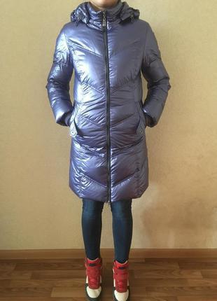 Пуховик куртка пальто пух s-xs