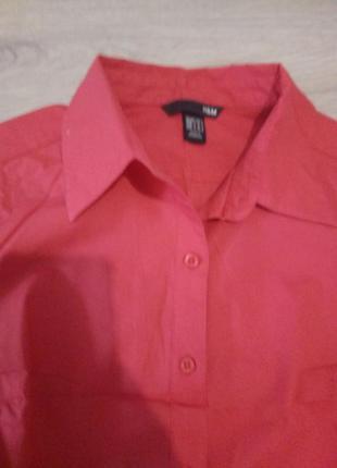 Кораловая блуза рубашка h&м