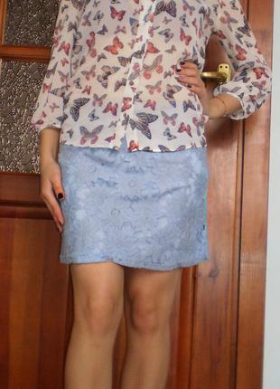 Дуже гарна кружевна спідниця/спідничка/кружевная юбка