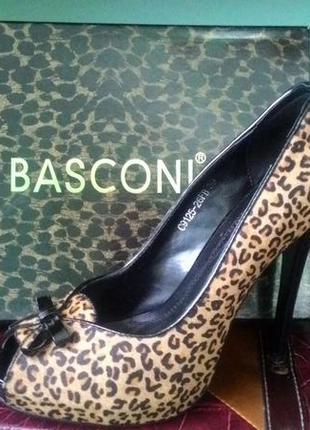 Туфли basconi леопардовые 39 размер