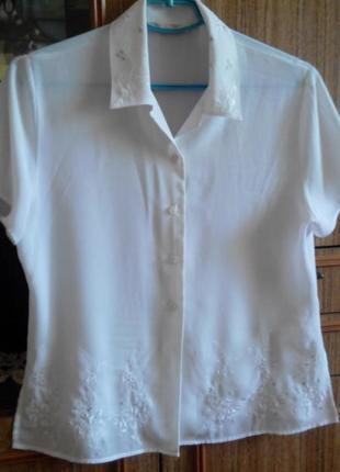 Белая блузочка marks&spencer