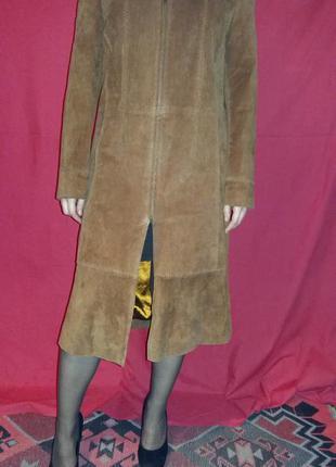 Пальто замшевое