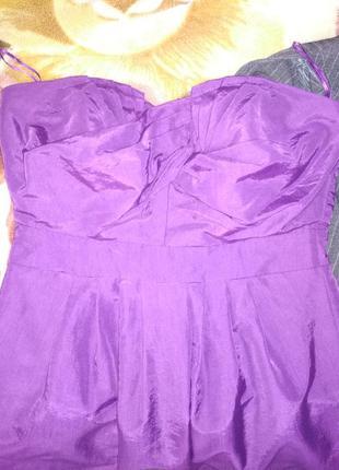 Коктейльна сукня насиченого фіолетового кольору