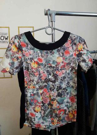 Супер стильная блуза в цветочный принт