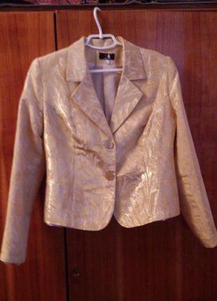 Жакет, пиджак,  желто-золотой