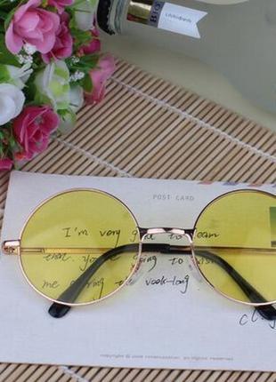 Круглые очки.солнцезащитные очки. имиджевые очки. очки