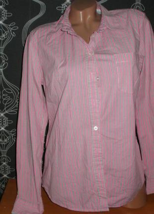 Полосатая рубашка 14/44рр.  98% коттон