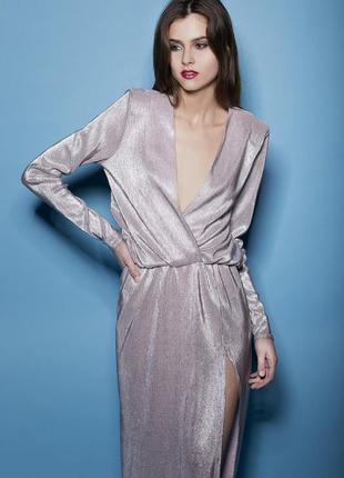 Шикарное дизайнерское платье макси