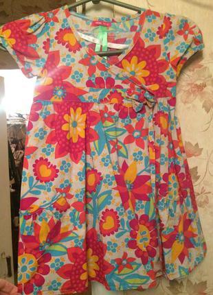 Платье сарафан из хлопка идеал 4-5 лет