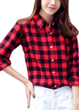 6c46f56f24e Стильная клетчатая рубашка женская h m германия р.м 38 8 в идеале1 фото ...