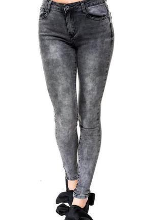 Крутые модные серые джинсы - варёнки женские c высокой талией g-star raw р.42-44(w26l32